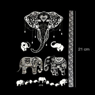 Witte nep tattoo sticker olifant