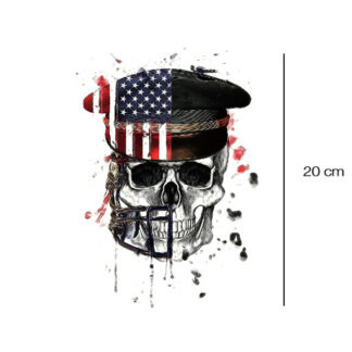USA skull tattoo