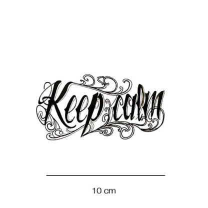 Keepcalm plaktattoo